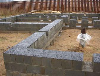 Фундамент своими руками под дом из керамзитобетонных блоков