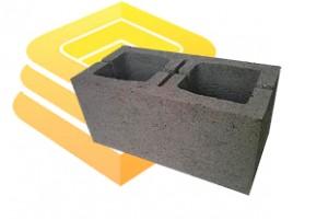 Керамзитобетонный блок двухпустотный