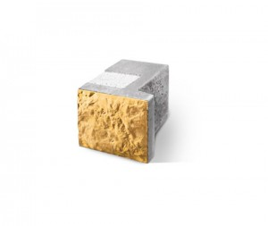 Трехслойный блок для окон половинчатый