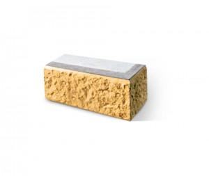 Угловой наружный трехслойный блок