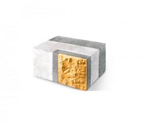 Угловой внутренний трехслойный блок