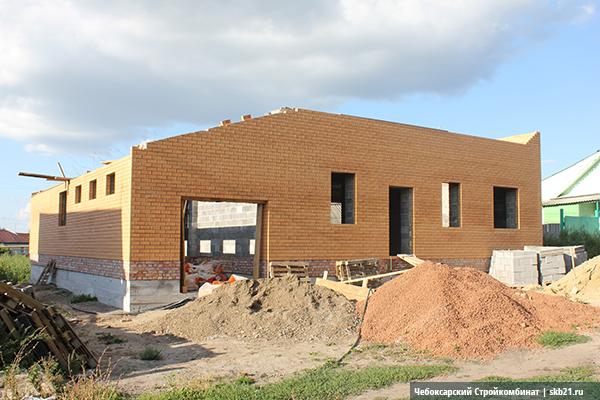 Дом с гаражом из керамзитоблоков