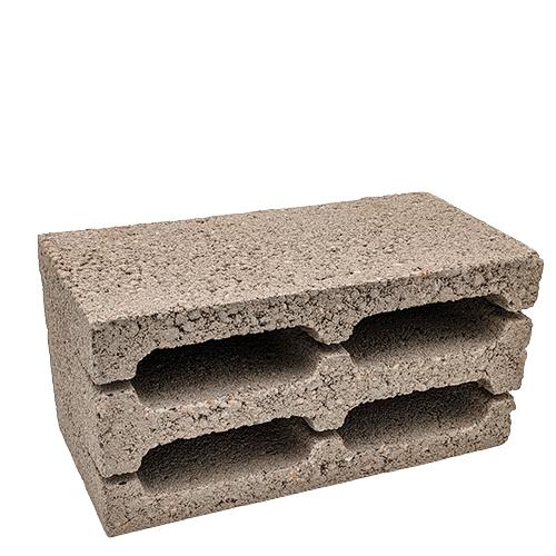 4-хщелевой керамзитобетонный блок