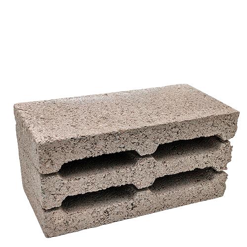 Керамзитобетонный блок с утолщенными стенками